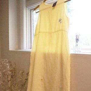 Summer Dress with Floral Embroidery + Beads (XL)